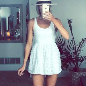 Hollister white lace sleeveless mini tank dress Xs